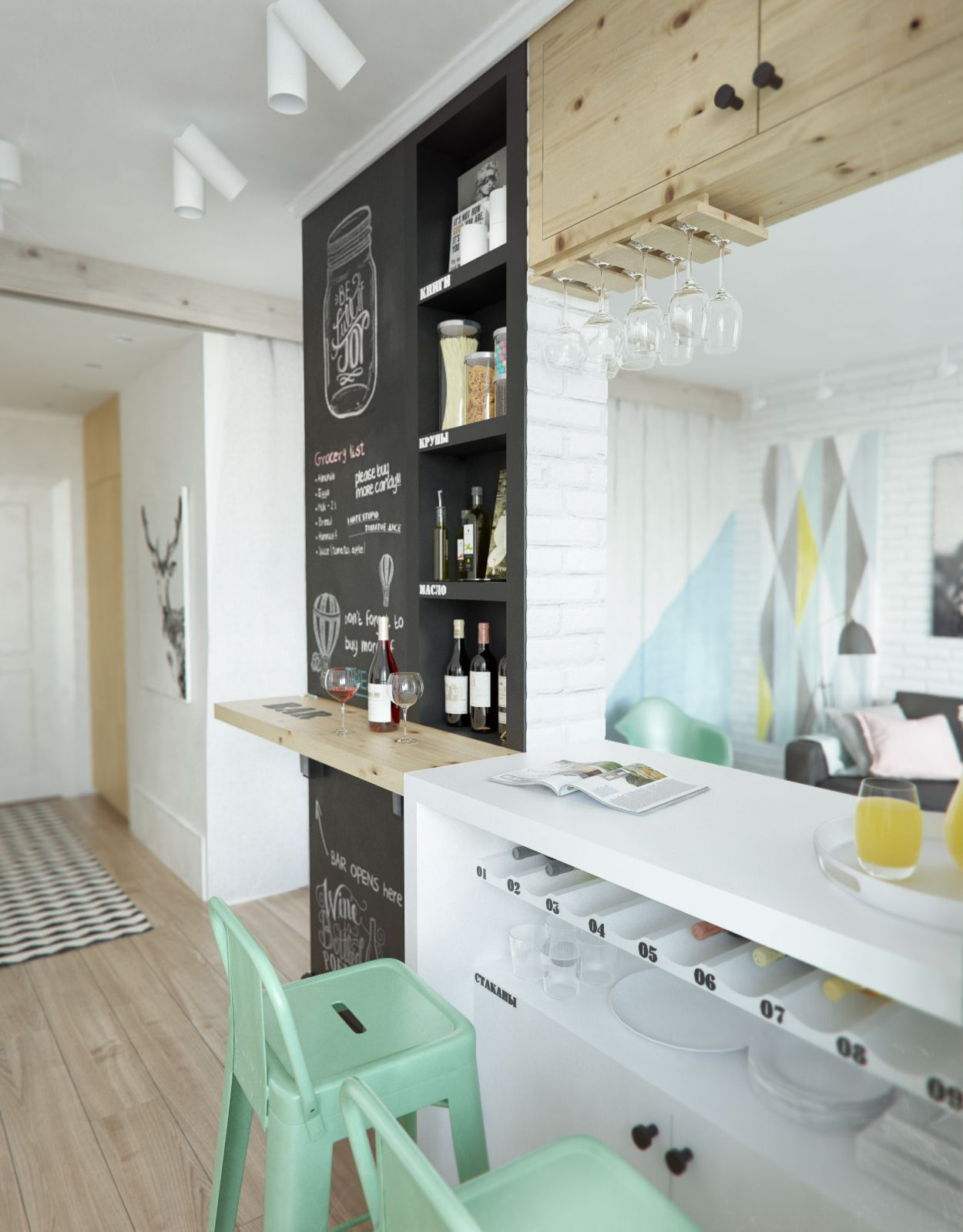 10-bar-home-design-with-black-wooden-board-and-white-high-bar-table