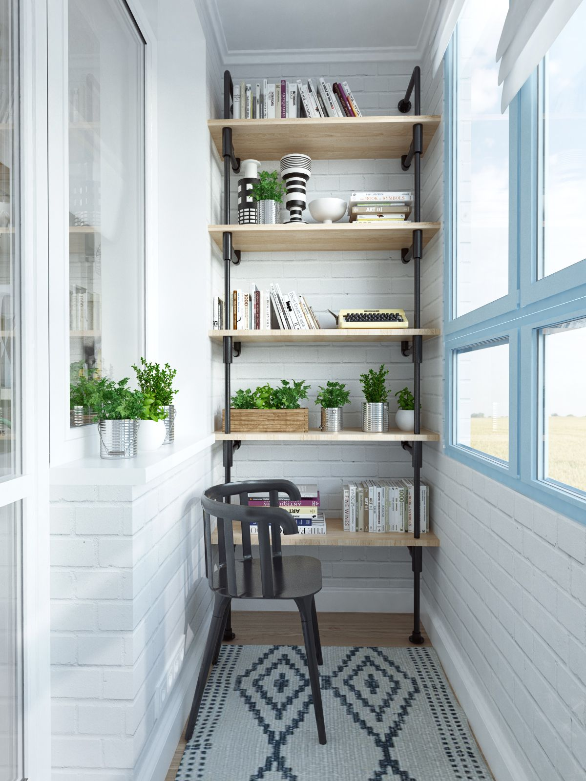 12-wall-high-wooden-iron-case-for-mini-plant-and-bookcase