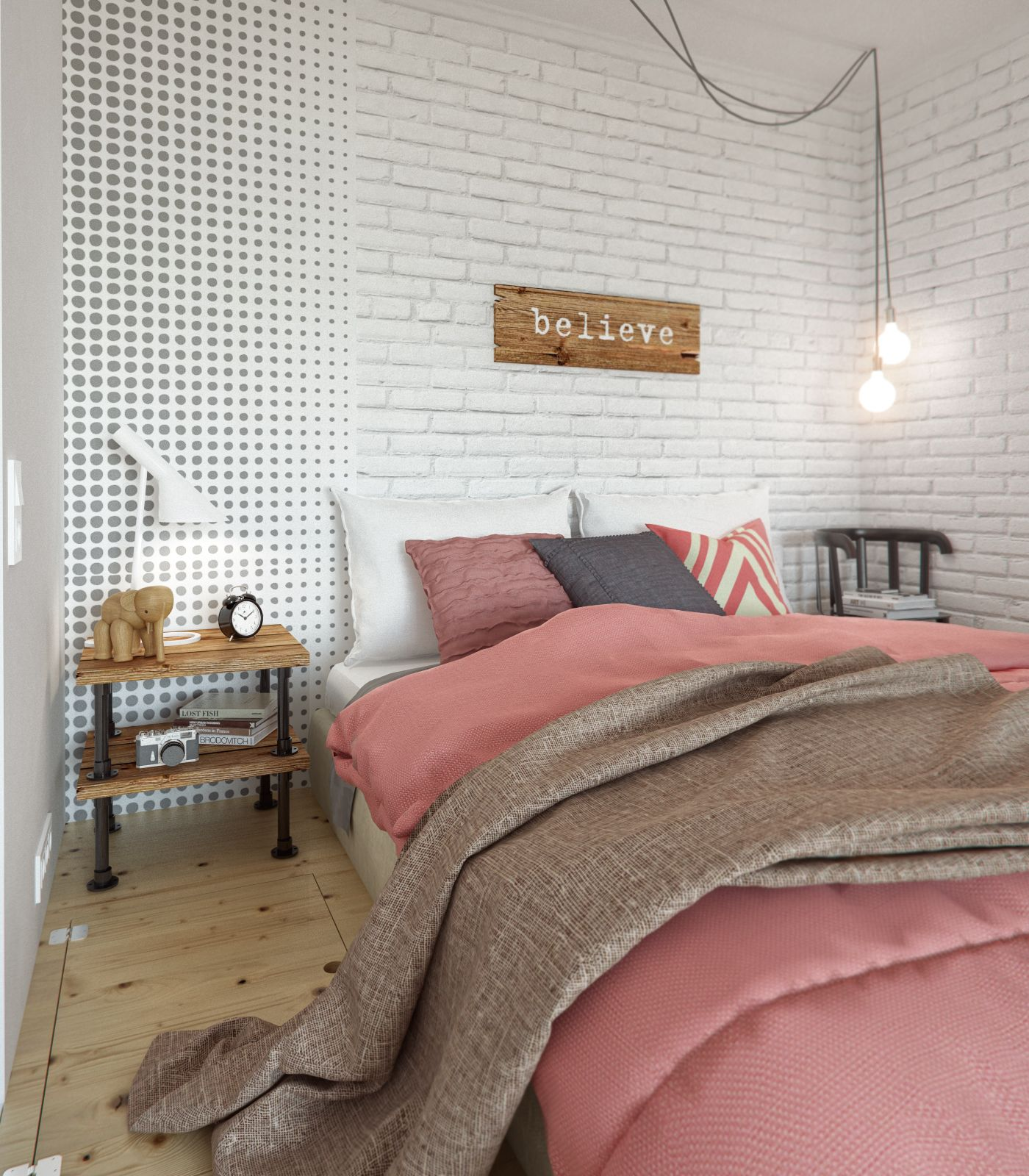 6-home-bedroom-design-with-pink-blanket-and-white-pillow-and-dual-layers-bed-desk