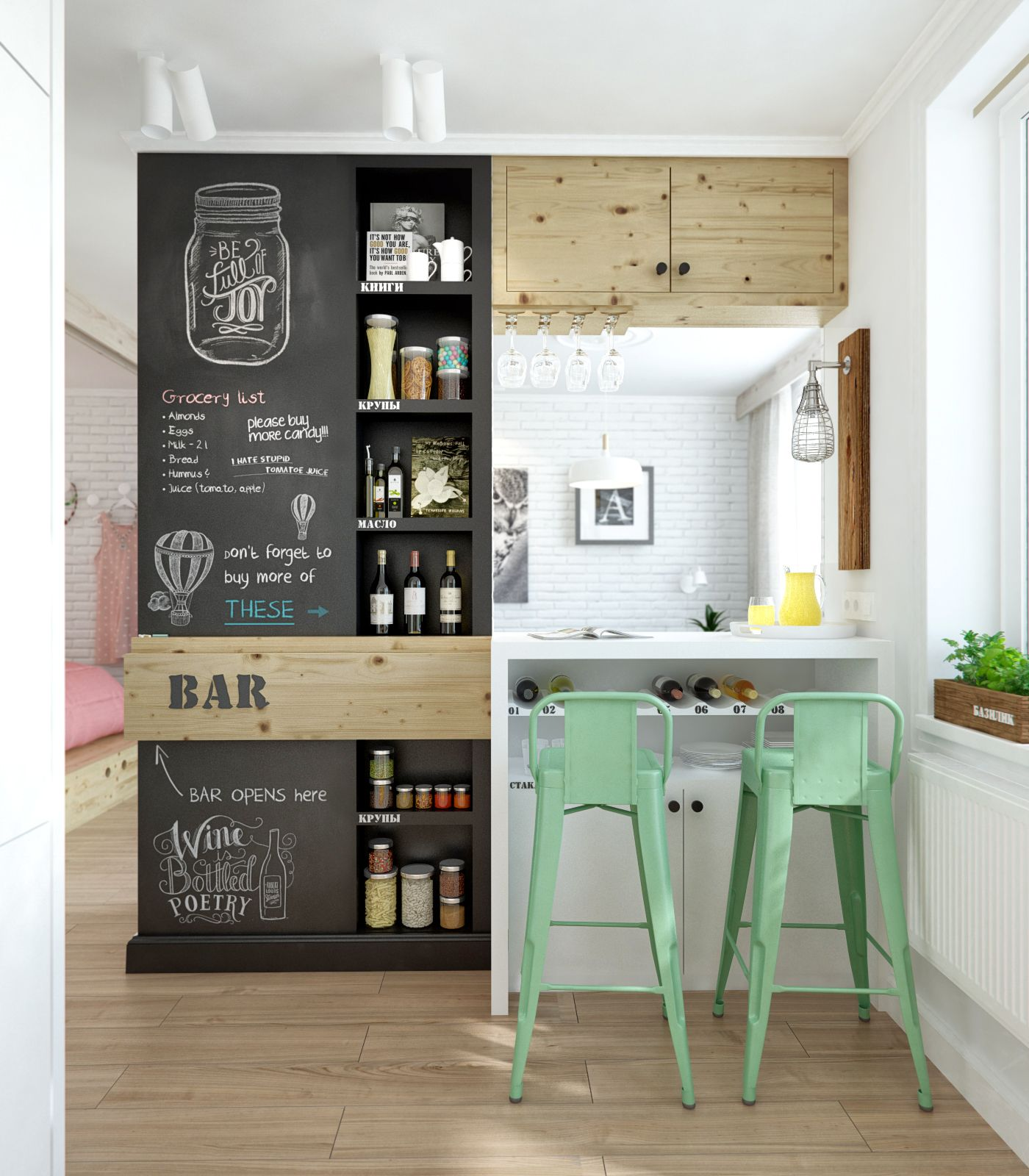 9-bar-home-design-with-small-ideas-and-high-green-chair-and-black-wooden-bottle-drink-storage